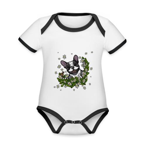 Happy Hello - Organic Baby Contrasting Bodysuit