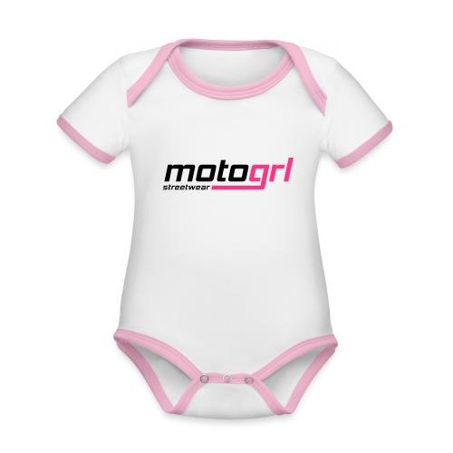 MotoGrl Streetwear - Vauvan kontrastivärinen, lyhythihainen luomu-body