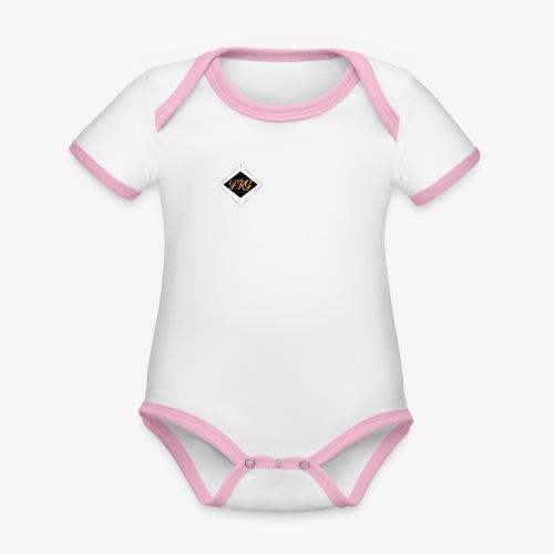 FakaG - Baby contrasterend bio-rompertje met korte mouwen