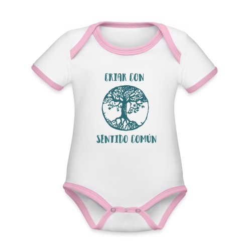 Árbol de la vida - Body contraste para bebé de tejido orgánico
