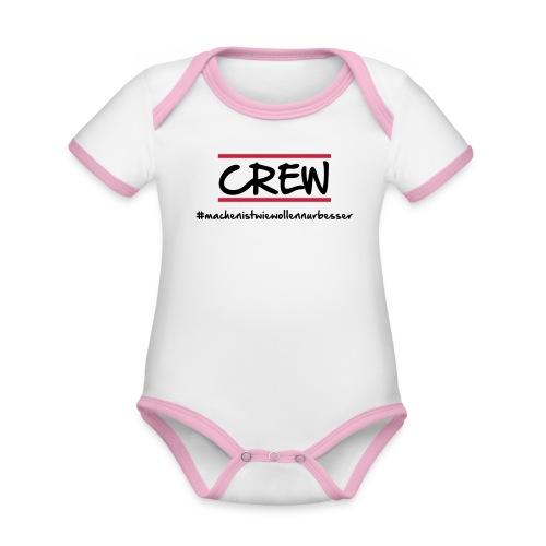 Crew - Baby Bio-Kurzarm-Kontrastbody
