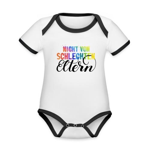 Nicht von schlechten Eltern bunt - Baby Bio-Kurzarm-Kontrastbody