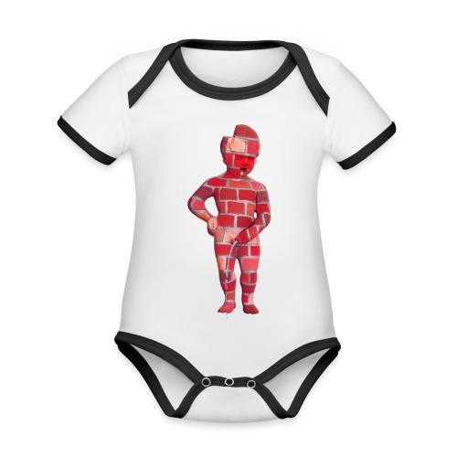 BRiCO ♀♂ | mannekenpis - Body Bébé bio contrasté manches courtes