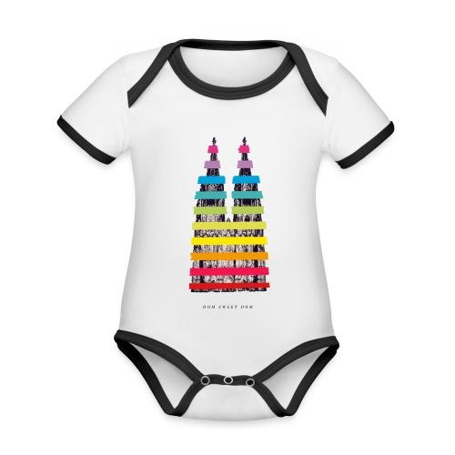 DOM SWEET DOOM (Pride Edition) - Baby Bio-Kurzarm-Kontrastbody