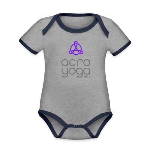 AcroYoga International Logo - Organic Baby Contrasting Bodysuit