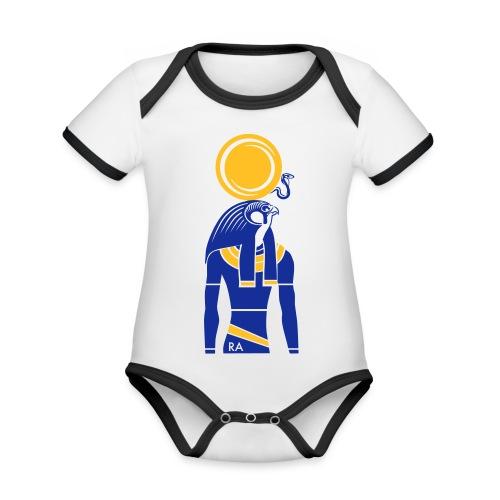 RA – Sonnengott - Baby Bio-Kurzarm-Kontrastbody