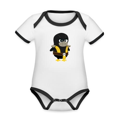 Pingouin Mortal Scorpion - Body Bébé bio contrasté manches courtes