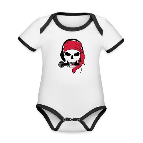 Pirate (par éoline) - Body Bébé bio contrasté manches courtes