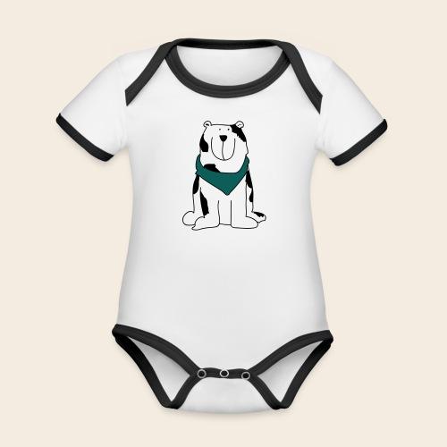 Gros chien mignon - Body Bébé bio contrasté manches courtes