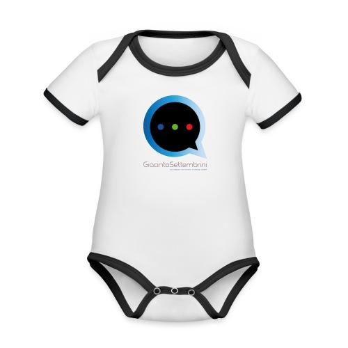 GS Model - Body da neonato a manica corta, ecologico e in contrasto cromatico