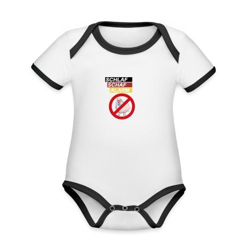 Schlaf-Schaf-Alarm - Baby Bio-Kurzarm-Kontrastbody