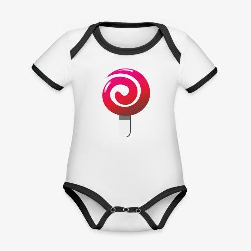 sweetjw2 - Ekologiczne body niemowlęce z krótkim rękawem i kontrastowymi lamówkami
