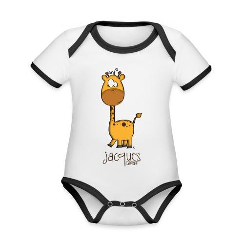 JACQUES Giraff - Baby Bio-Kurzarm-Kontrastbody