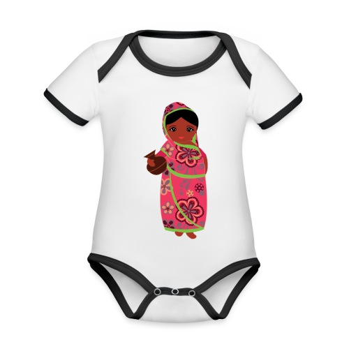 Lovedesh Art - Ira Kolshi Doll - Organic Baby Contrasting Bodysuit