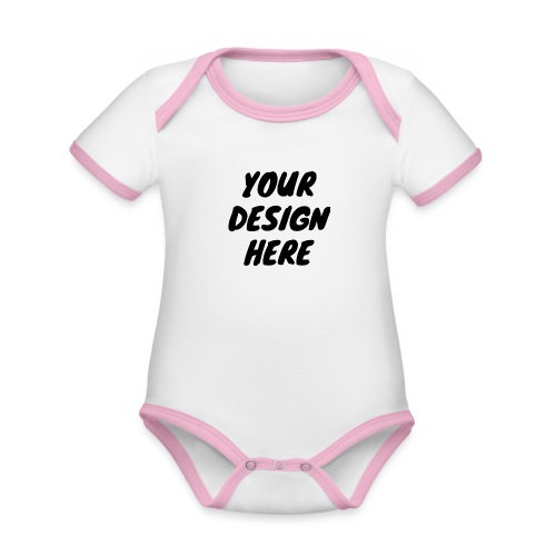 print file front 9 - Organic Baby Contrasting Bodysuit
