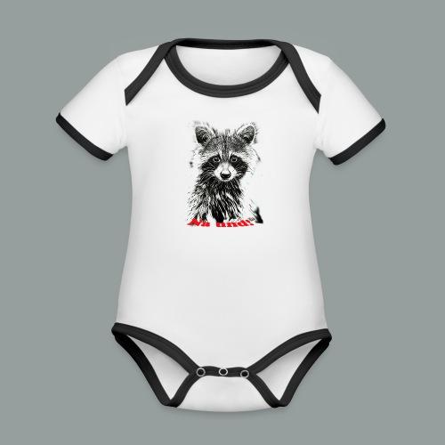 Waschbärbaby - Baby Bio-Kurzarm-Kontrastbody