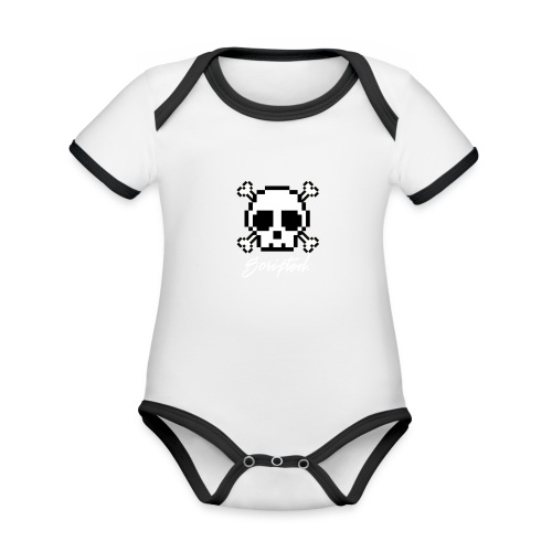 Scripted. Skull - Organic Baby Contrasting Bodysuit