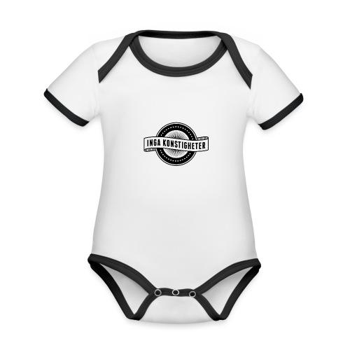Inga Konstigheters klassiska logga (ljus) - Ekologisk kontrastfärgad kortärmad babybody