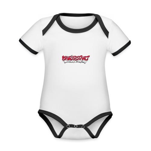 Manifestant (par éoline) - Body Bébé bio contrasté manches courtes