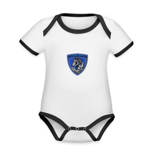SweaG - Ekologisk kontrastfärgad kortärmad babybody