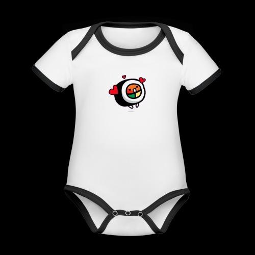 kleine Rolle - Baby Bio-Kurzarm-Kontrastbody