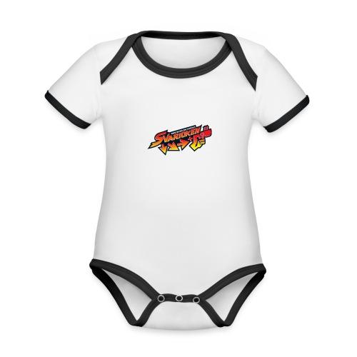 Spilla Svarioken. - Body da neonato a manica corta, ecologico e in contrasto cromatico