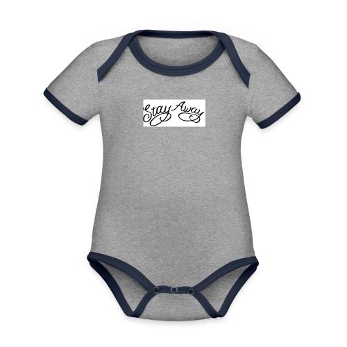 STAY AWAY - Kortærmet økologisk babybody i kontrastfarver