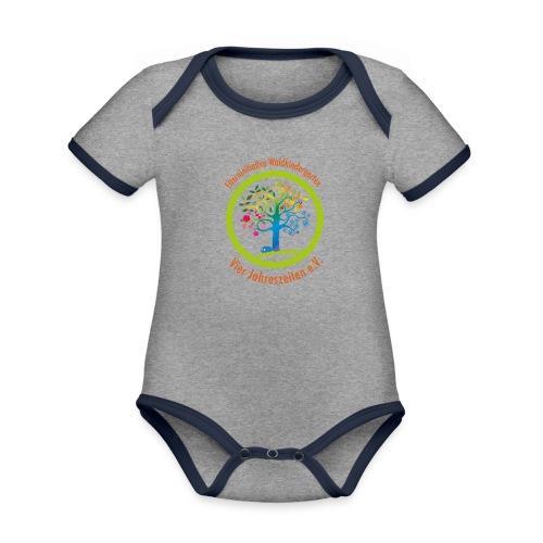 Waki Logo cmyk mitSchrift - Baby Bio-Kurzarm-Kontrastbody