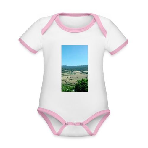 Panorama - Body da neonato a manica corta, ecologico e in contrasto cromatico
