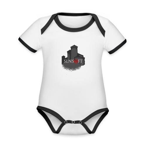slnsoft - Vauvan kontrastivärinen, lyhythihainen luomu-body