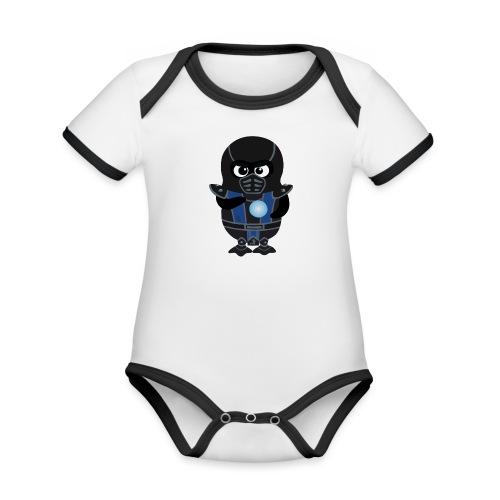 Pingouin SubZero - Body Bébé bio contrasté manches courtes
