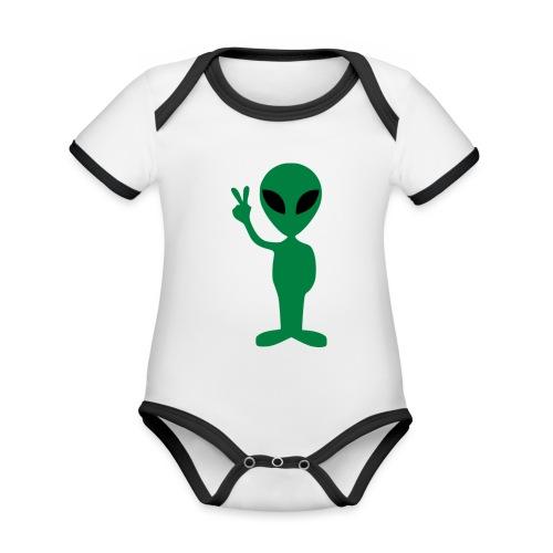 Peace alien - Body contraste para bebé de tejido orgánico