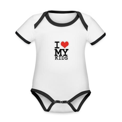 Love To Kids! - Kortærmet økologisk babybody i kontrastfarver