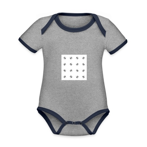 Bees - Organic Baby Contrasting Bodysuit