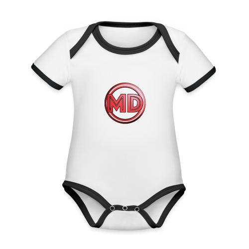MDvidsTV logo - Baby contrasterend bio-rompertje met korte mouwen