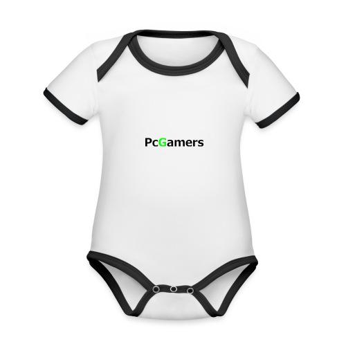 pcgamers-png - Body da neonato a manica corta, ecologico e in contrasto cromatico
