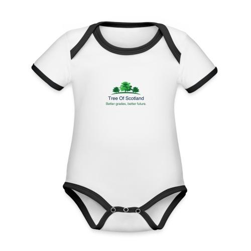 TOS logo shirt - Organic Baby Contrasting Bodysuit
