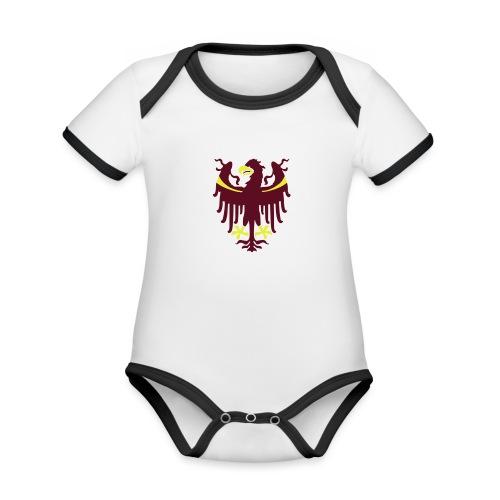 Wappen des Landes Südtirol - Baby Bio-Kurzarm-Kontrastbody