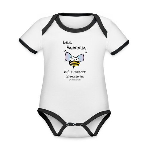 Bees6-1 Save the bees - Organic Baby Contrasting Bodysuit