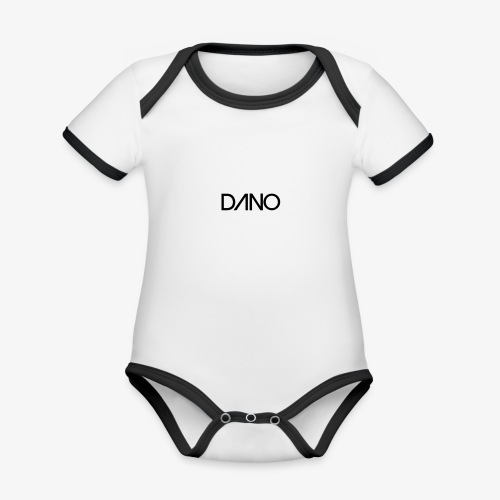 dano - Baby contrasterend bio-rompertje met korte mouwen