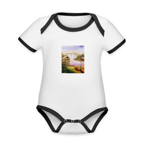 Heather Grey Water Fall Unisex Classic Hoodie - Organic Baby Contrasting Bodysuit