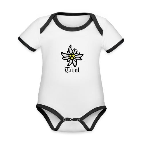 Tirol Edelweiss - Baby Bio-Kurzarm-Kontrastbody
