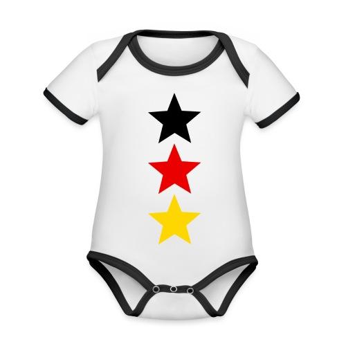 3 Sterne Deutschland #1 - Baby Bio-Kurzarm-Kontrastbody