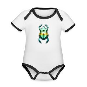 Skarabäus - Baby Bio-Kurzarm-Kontrastbody