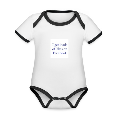 Facebook likes - Organic Baby Contrasting Bodysuit