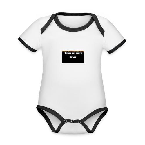 T-shirt staff Delanox - Body Bébé bio contrasté manches courtes