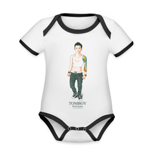 Tomboy. Stereotypes Collection. - Body contraste para bebé de tejido orgánico