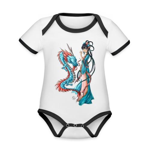 Blue Dragon - Body Bébé bio contrasté manches courtes