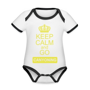 keep calm and go canyoning 2 - Baby Bio-Kurzarm-Kontrastbody