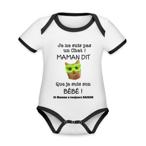O'Malley le Bébé ! - Body Bébé bio contrasté manches courtes